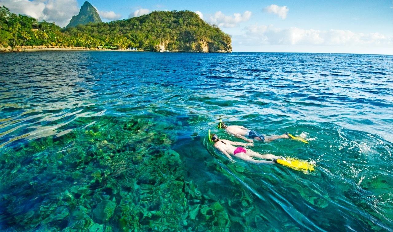 snorkeling scuba st lucia